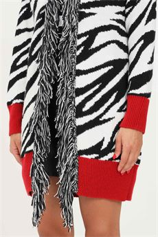 Maglia lunga donna bianca e nera Gaelle | GBD10275ZEBBRATO