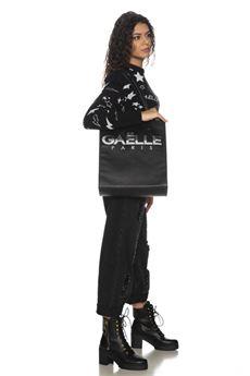 Pullover donna nera con fantasia Gaelle | GBD10334NERO