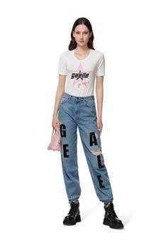 Jeans donna di colore blu