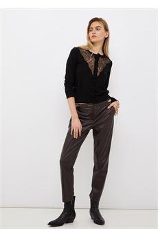 Pantalone donna color cioccolato Liu Jo | CF1011E0641X0385