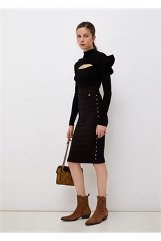 Maglia donna nera a maniche lunghe Liu Jo | CF1164MA99E22222
