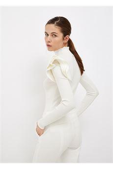 Lupetto donna bianco a maniche lunghe Liu Jo   CF1164MA99EX0256