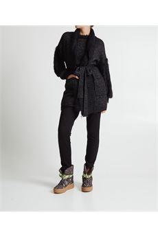 Cardigan lungo donna Nero Liu Jo | CF1285MA99L22222