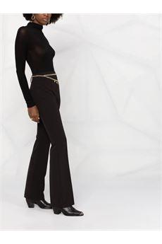 Pantaloni donna nero a vita alta Liu Jo | CF1334T240422222