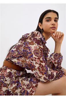 Vestito donna  corto in fil coupé viola Liu-Jeans | WF1038T8726S9185