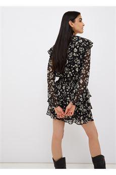 Vestito donna  corto in fil coupé nero Liu-Jeans | WF1038T8726T9972