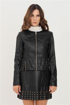 Giubbotto donna nero in ecopelle Liu-Jeans | WF1084E039222222