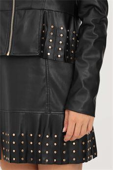 Giubbotto donna nero in ecopelle Liu-Jeans   WF1084E039222222