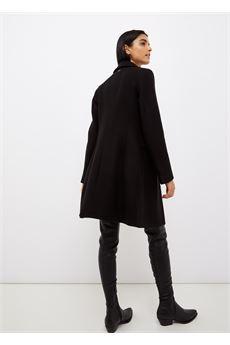 Cappotto donna lungo di colore nero Liu-Jeans | WF1121T461222222