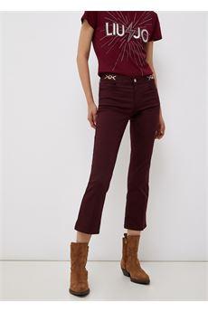 Pantaloni da donna bordeaux Liu-Jeans | WF1226T7144X0201