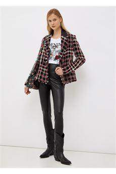 Giacca Donna in bouclé nera e rossa Liu-Jeans   WF1300T3039S9084