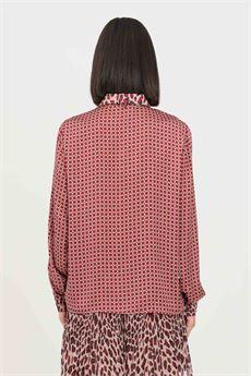 Camicia donna bordeau stampato Liu-Jeans | WF1359T5027S9196