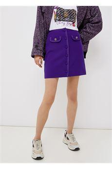 Minigonna donna con bottoi viola ametista Liu-Jeans | WF1369T7896X0396