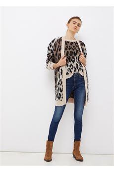 Cardigan donna lungo con cintura Liu-Jeans   WF1459MA89AZ9425