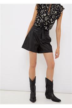 Short donna nero  in tessuto spalmato Liu-Jeans | WF1491E039222222