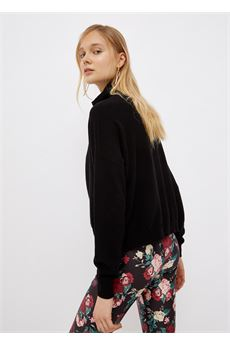 Dolcevita donna nero con logo Liu-Jeans | WF1497MA14GS9296