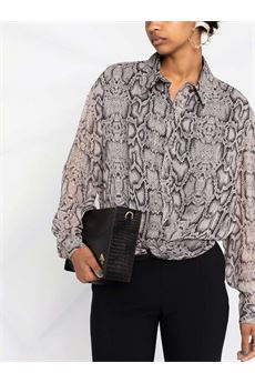 Camicia donna con stampa pitone Liu-Jeans | WF1511T5441T9976