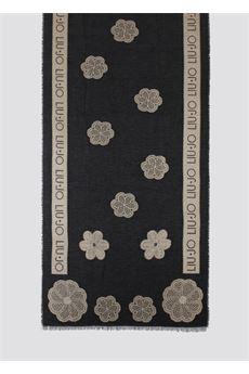 Stola da donna nera in jacquard con fiori Liu.Jo Accessori | 2F1017T030022222