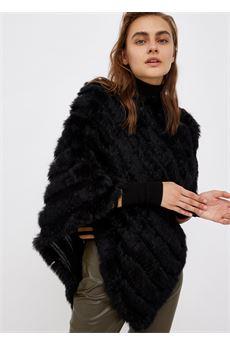 Poncho donna nero in lapin Liu.Jo Accessori | 2F1021P001922222