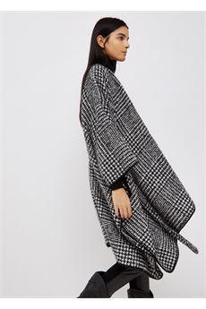 Poncho donna bianco e nero Liu.Jo Accessori | 3F1038T030000128