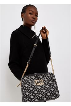 Borsa donna nera e gragia con  tracolla Liu.Jo Accessori   NF1186T6438S9354
