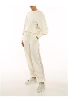Pantalone tuta donna color panna Twinset | 212TP320100282
