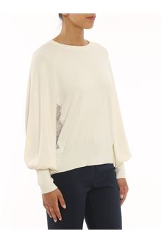 Maglione donna color panna Twinset   212TP320300282