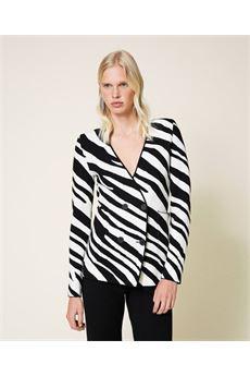 Giacca donna color bianco e nero Twinset | 212TP323006351
