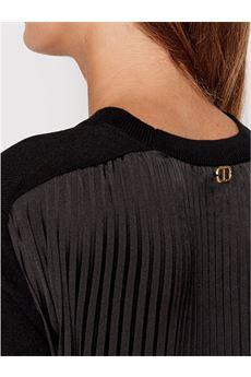 Maxi maglia donna in pizzo nera Twinset   212TP328000006