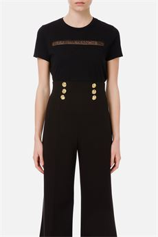 T.shirt donna nero Elisabetta Franchi | MA18411E2110