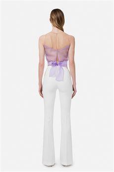 Pantalone skinny bianco Elisabetta Franchi | PA38411E2360