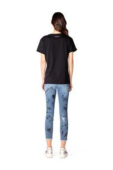 Gaelle T-shirt Donna Nero Gaelle | GBD8715NERO