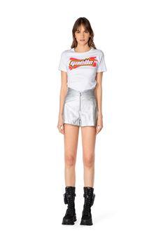 Gaelle Shorts Donna Argento Gaelle | GBD8983SILER