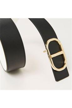 Cintura in pelle con fibbia logo donna Twinset Accessori | 211T0506301825