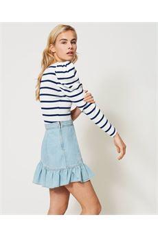 Minigonna in jeans con balza Twinset | 211TT237503498