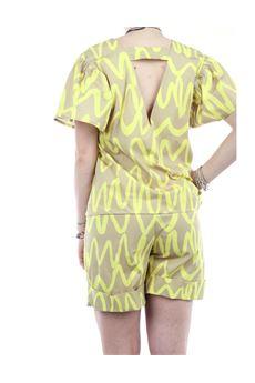 Camicia donna gialla casual Very Simple | 21PEV116GIALLO