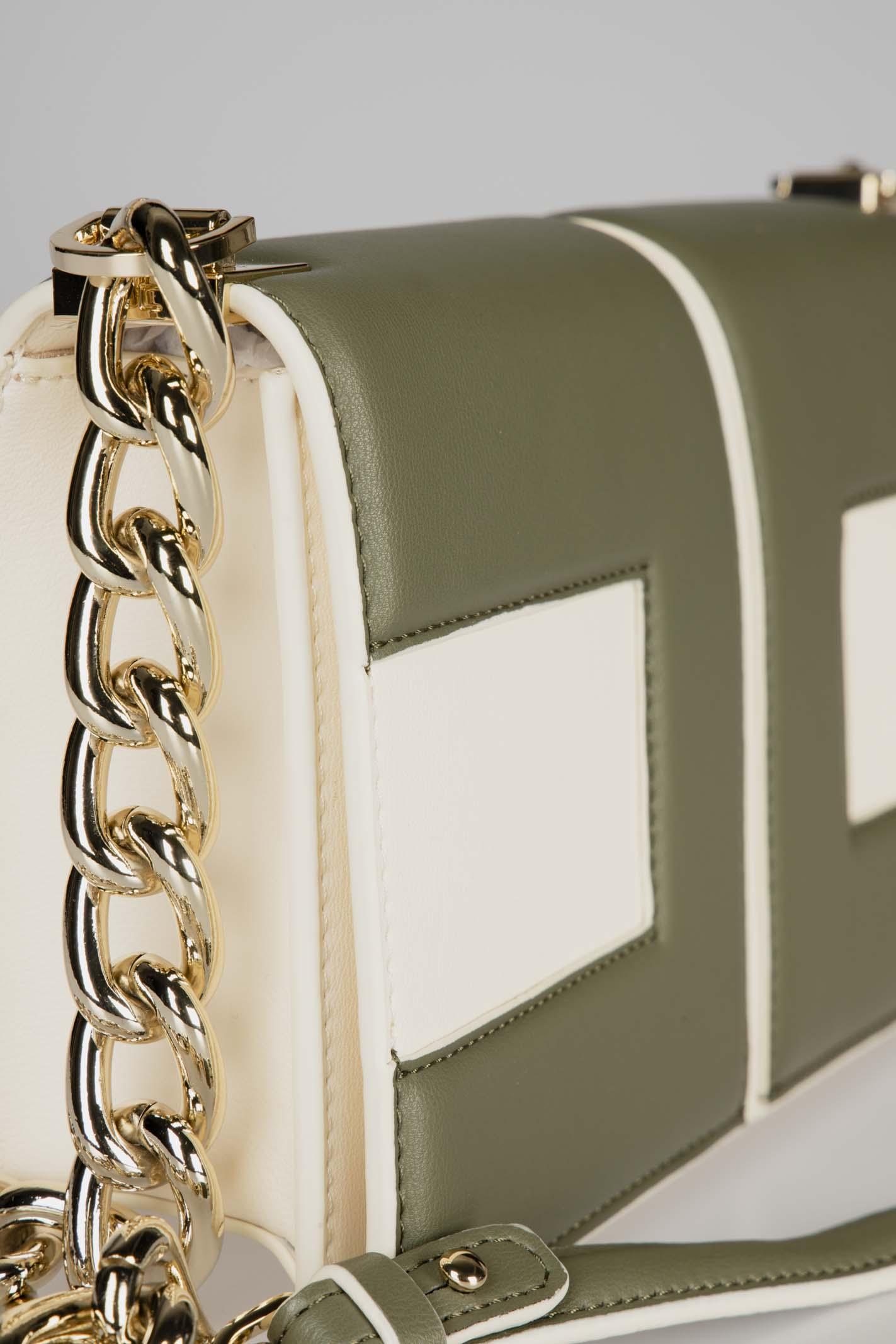 Clutch bag con catena dorata e logo bicolor ELISABETTA FRANCHI   Borsa   BS74A06E2K49