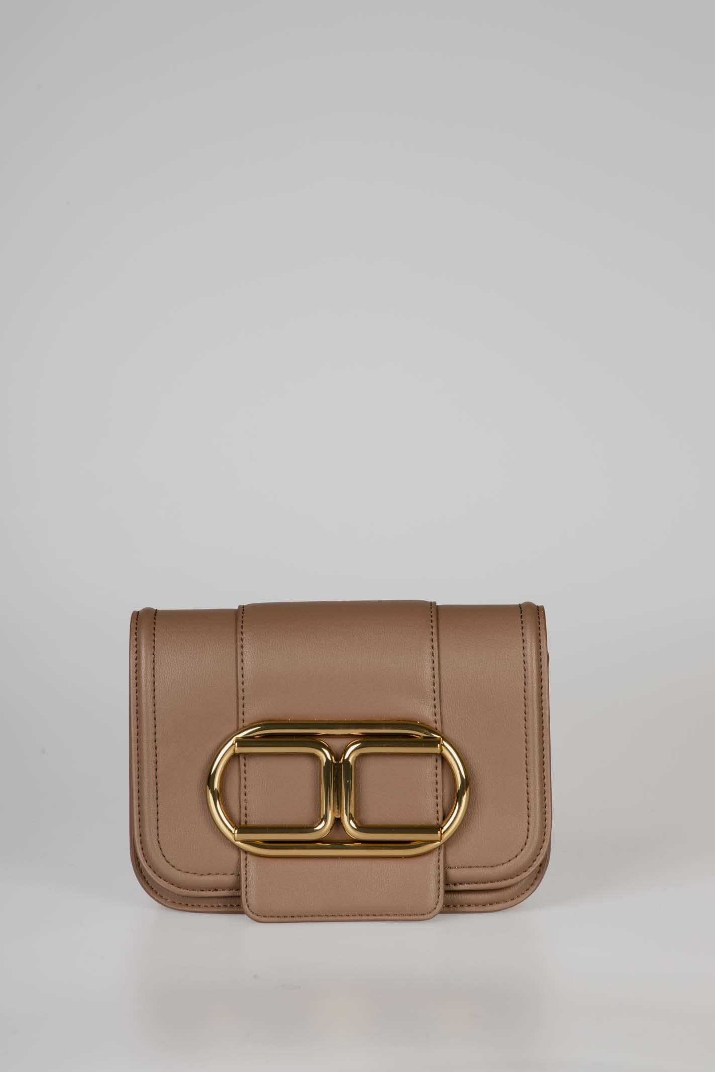 Mini clutch bag con tracolla a catena e maxi logo ELISABETTA FRANCHI | Borsa | BS80A06E2038