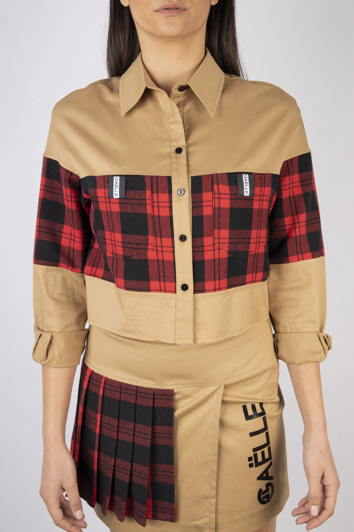 Camicia Corta Modello Oversize GAELLE | Camicia | GBD7248BRONZO