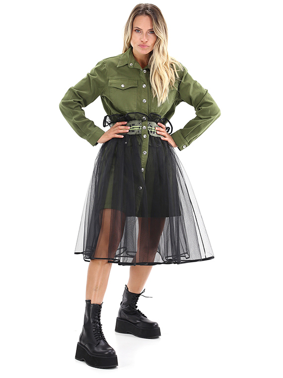 GAELLE | Dress  | GBD7405V.MILITARE