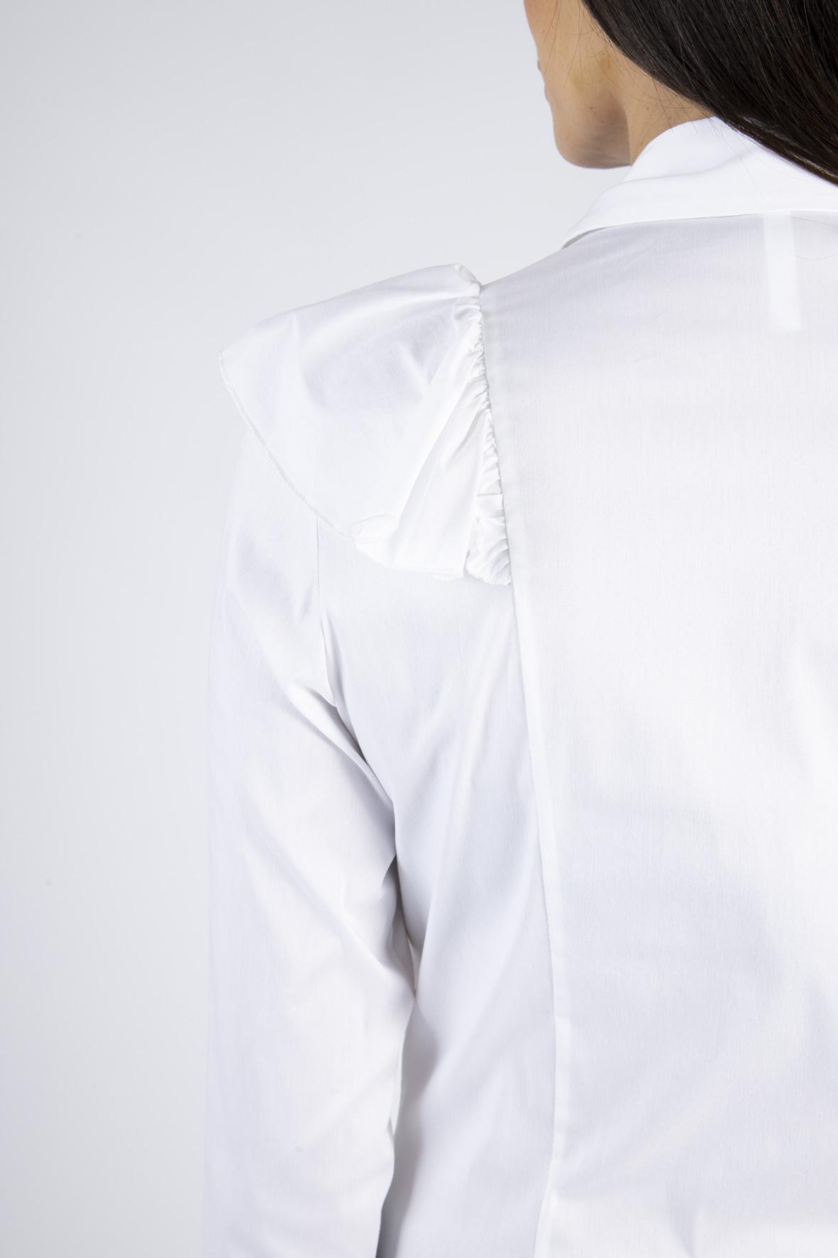CAMICIA MONOCOLOR CON MAXI ROUCHES IMPERIAL | Camicia | CIS6ABF1100