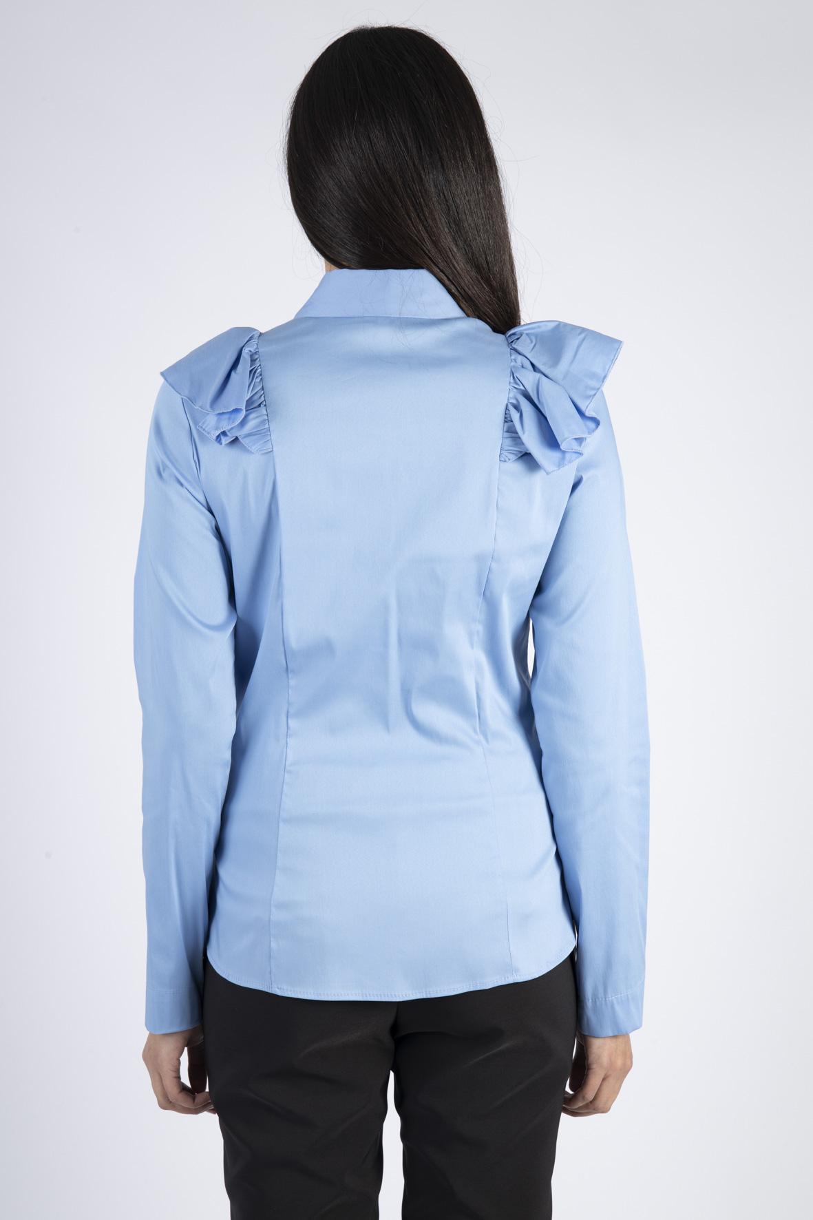 CAMICIA MONOCOLOR CON MAXI ROUCHES IMPERIAL   Camicia   CIS6ABF1550