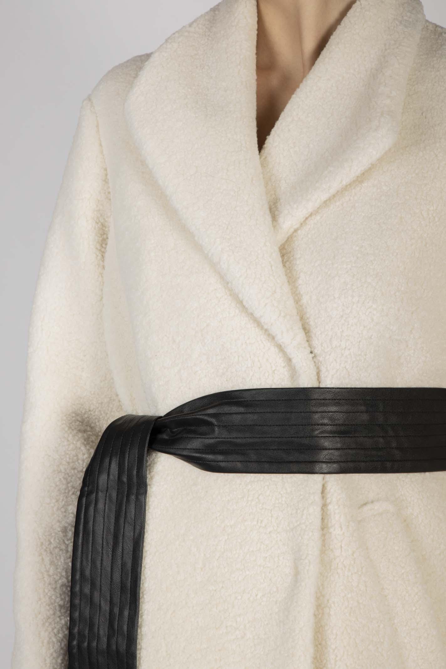 Cappotto Lungo In Faux Fur Teddy Pinko   Cappotto   1G14ZXY6D9C03