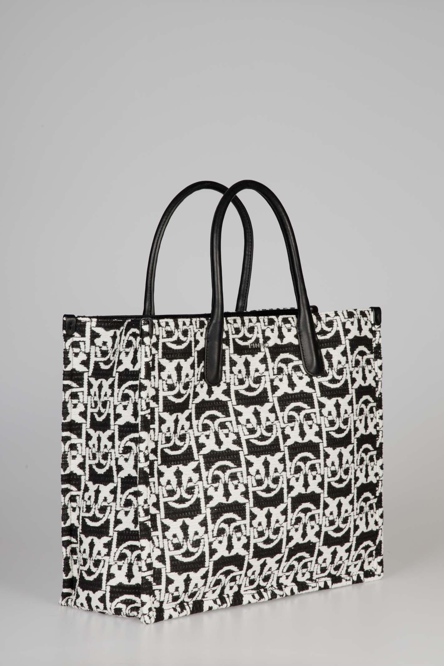 Love Bag Shopping Monogram In Jacquard Pinko | Borsa | 1P21WXY6NQZZ2