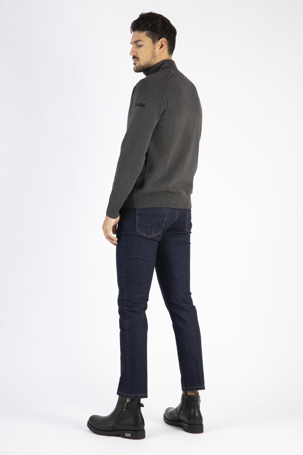 knit cotton 7 sailor RRD | Maglia zip | W2012011