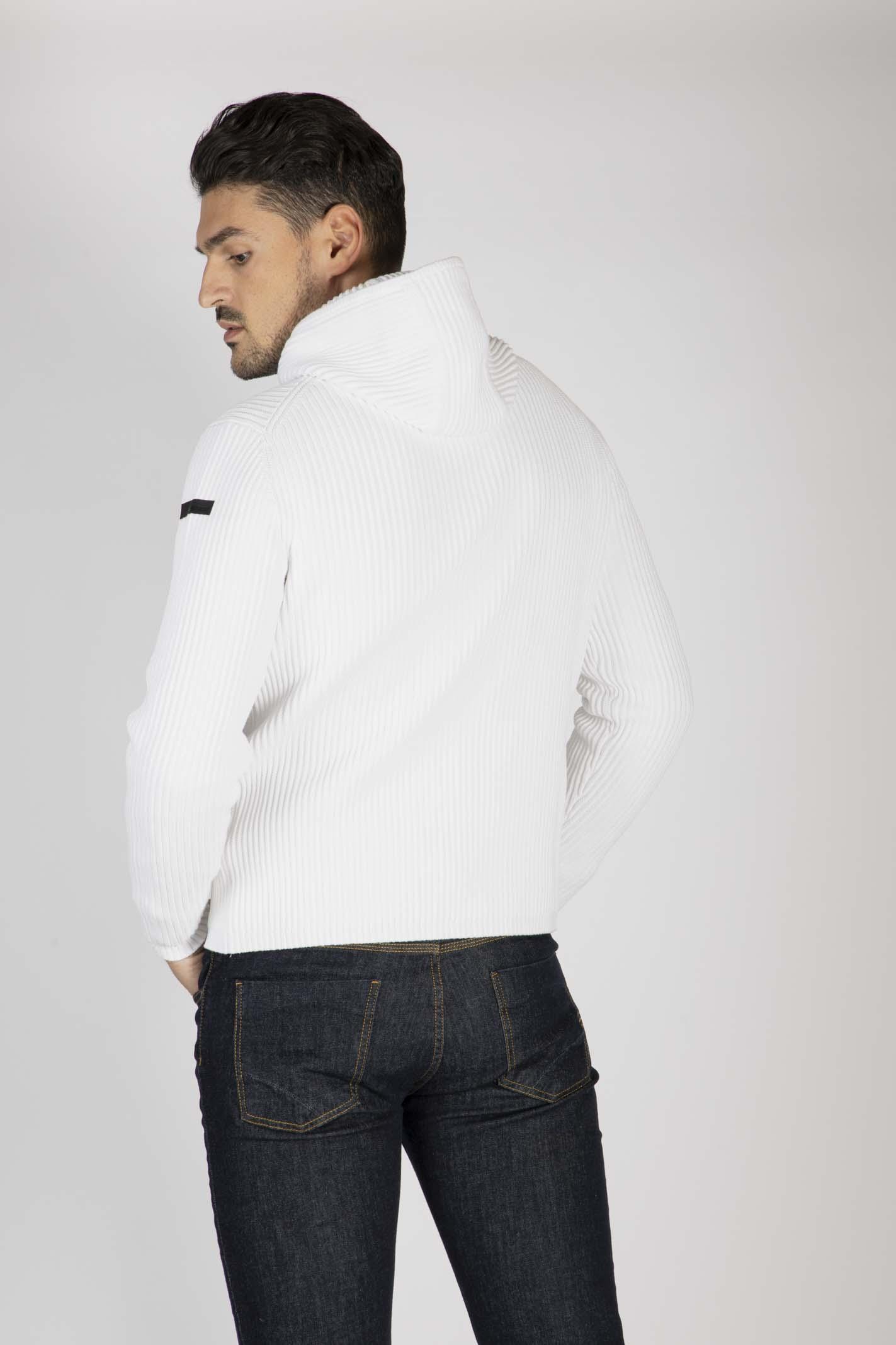 Knit Cotton 7 Hood RRD | Maglia zip | W2012309