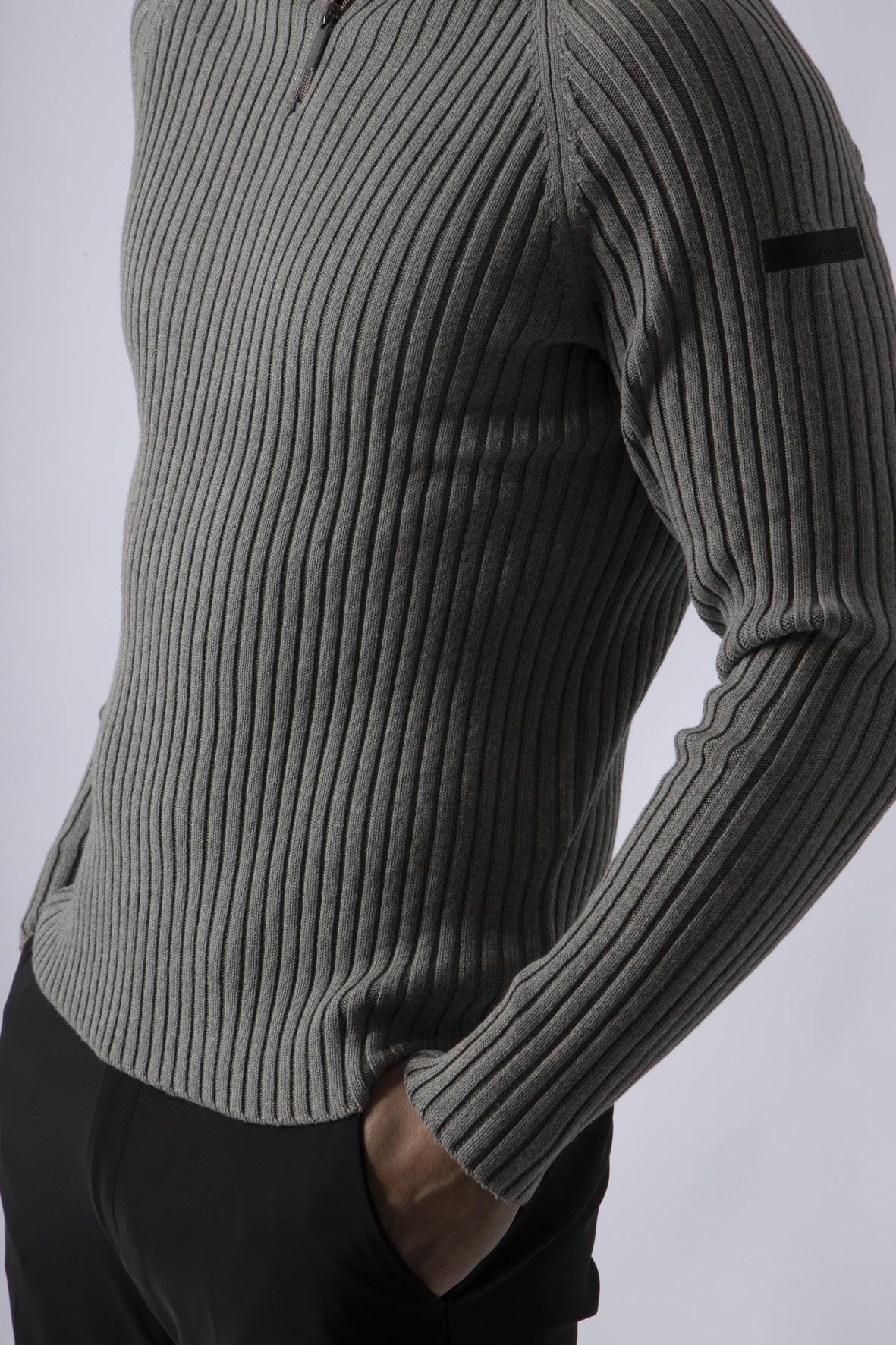 Knit Rib Neck Zip RRD | Maglia | W2012812