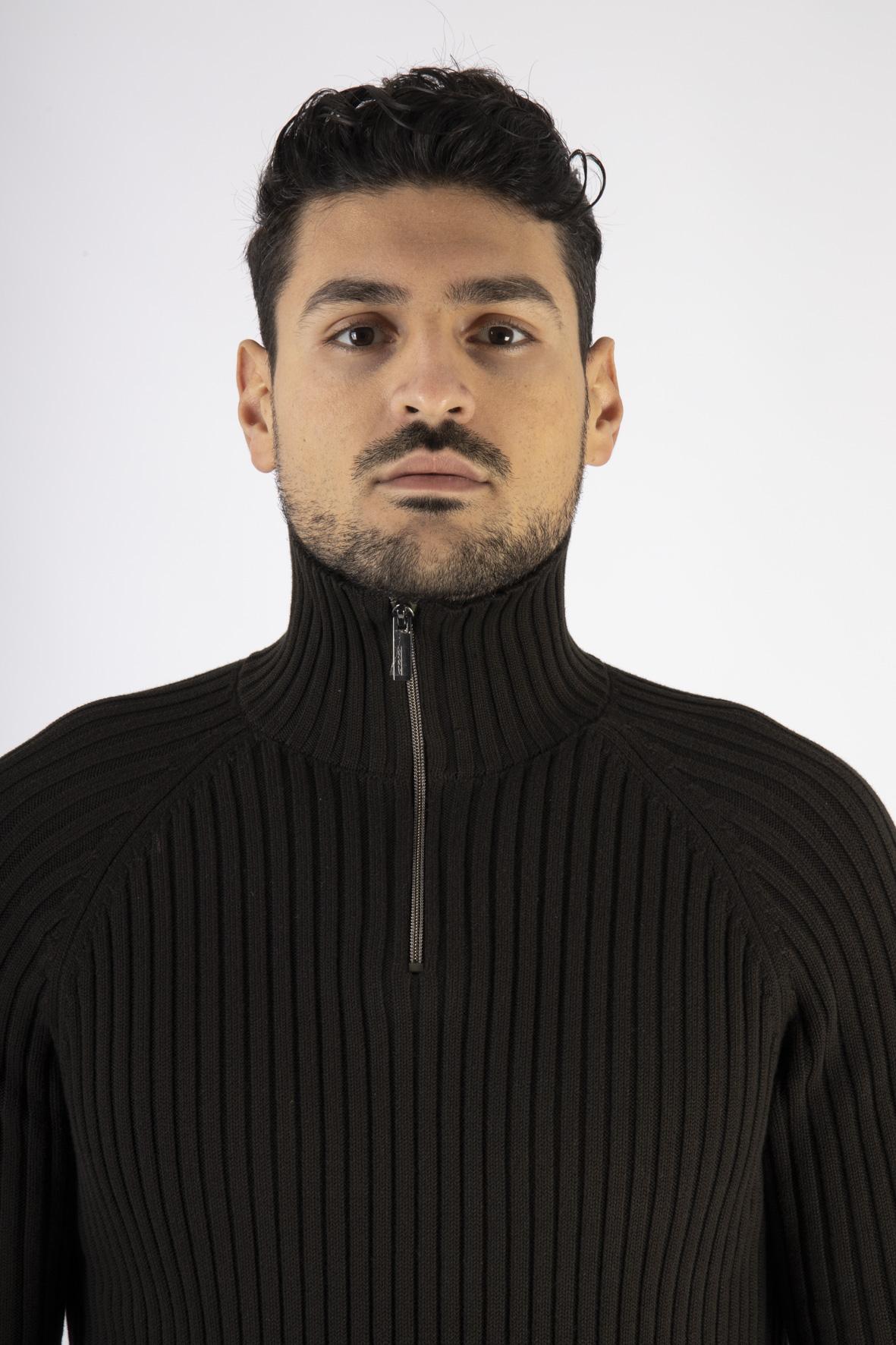 Knit Rib Neck Zip RRD | Maglia | W2012821