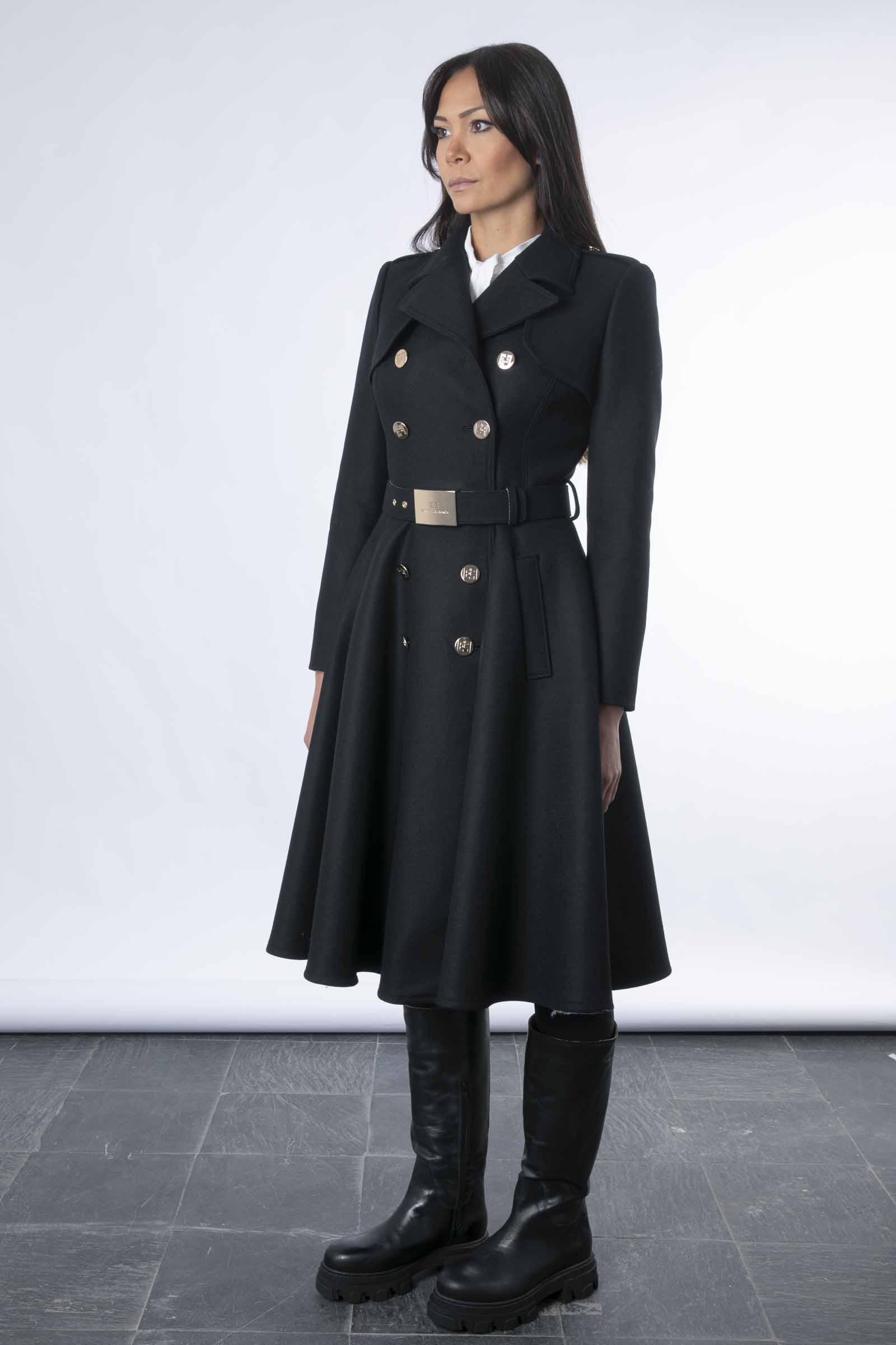 Cappotto militare doppiopetto Elisabetta Franchi ELISABETTA FRANCHI | Cappotto | CP00616E2110