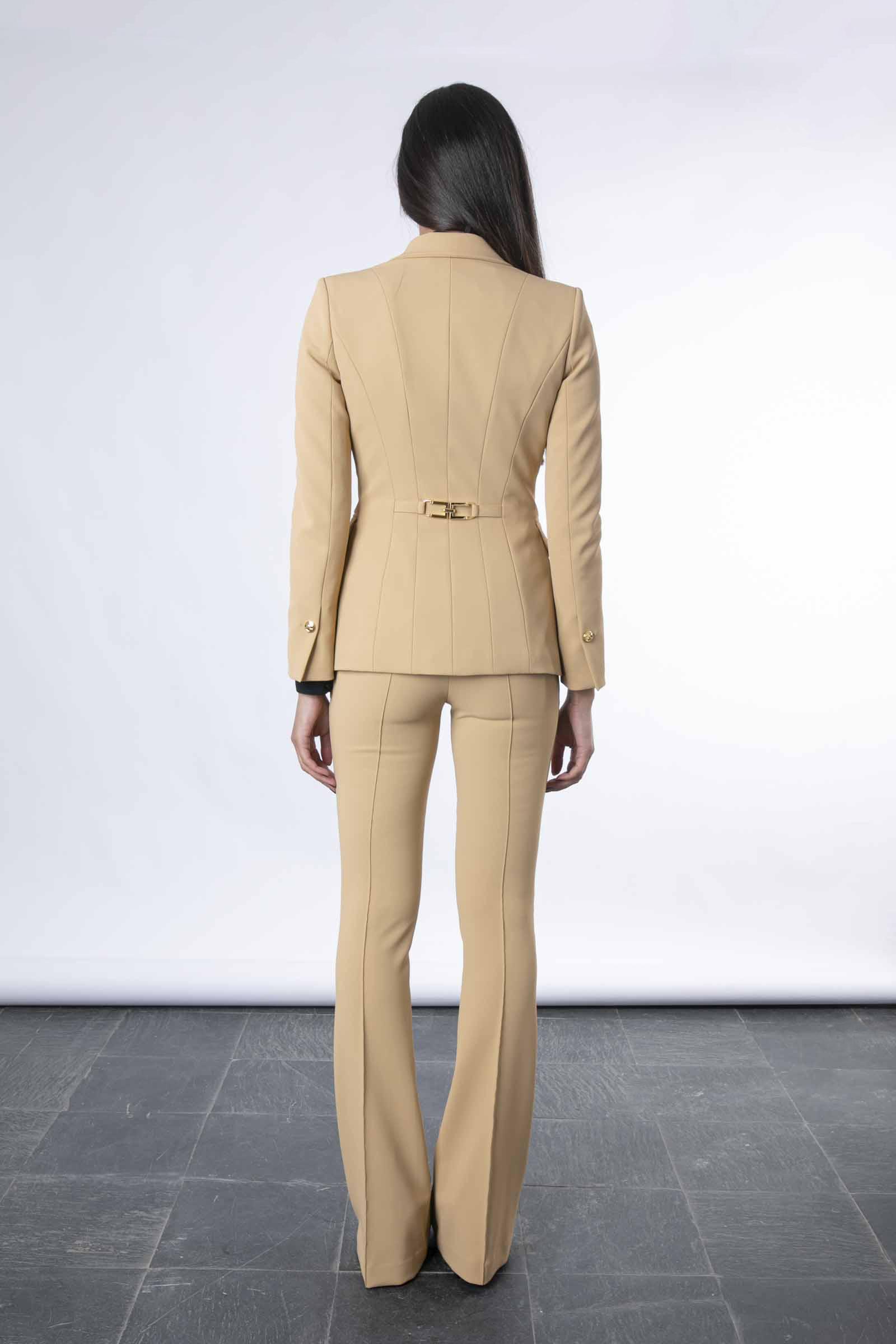 Giacca con morsetto light gold Elisabetta Franchi ELISABETTA FRANCHI | Giacca | GI97116E2470
